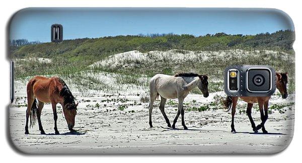 Wild Horses On The Beach Galaxy S5 Case