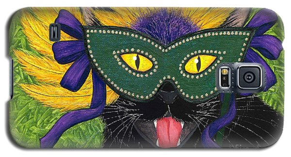 Wild Mardi Gras Cat Galaxy S5 Case