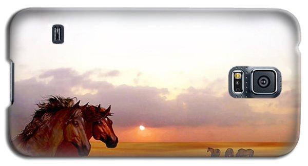 Wild Moorland Ponies Galaxy S5 Case