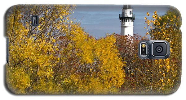 Wind Point Lighthouse In Fall Galaxy S5 Case by Ricky L Jones
