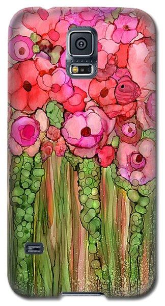 Wild Poppy Garden - Pink Galaxy S5 Case