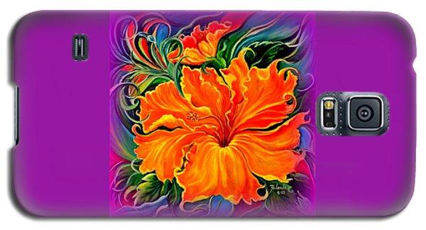 Wild Purple Hibiscus Galaxy S5 Case