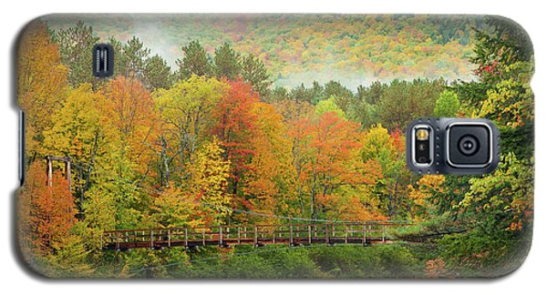 Galaxy S5 Case featuring the photograph Wild River Bridge by Susan Cole Kelly