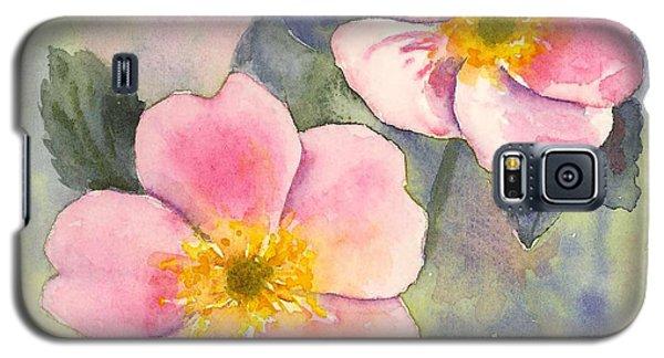 Wild Roses - Glacier Galaxy S5 Case