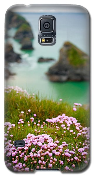 Wild Sea Pinks In Cornwall Galaxy S5 Case