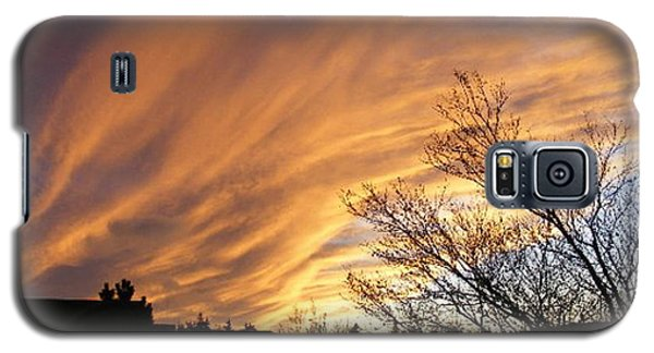 Galaxy S5 Case featuring the photograph Wild Sky Of Autumn by Barbara Griffin