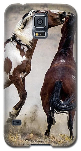 Wild Stallion Battle - Picasso And Dragon Galaxy S5 Case by Nadja Rider