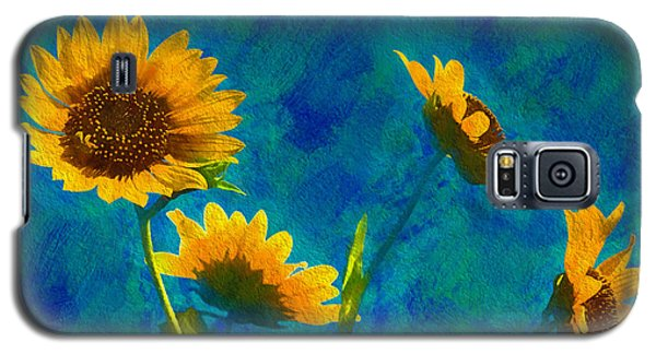 Wild Sunflowers Singing Galaxy S5 Case