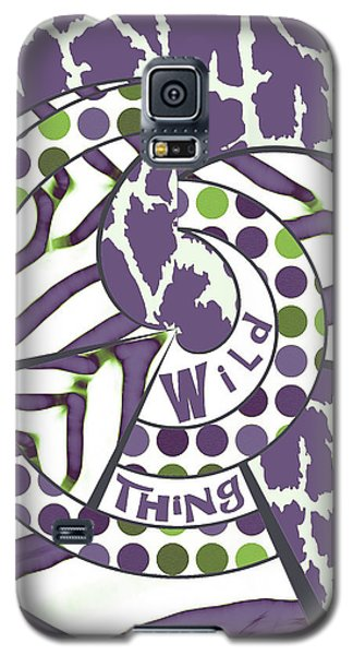 Galaxy S5 Case featuring the digital art Wild Thing by Methune Hively