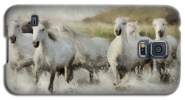 Wild White Horses Of The Camargue I Galaxy S5 Case