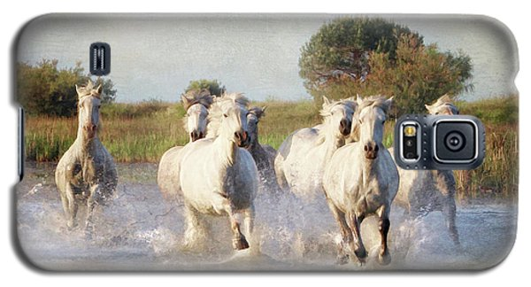 Wild White Horses Of The Camargue Vl Galaxy S5 Case
