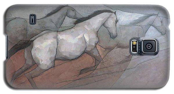 Wild White Horses Galaxy S5 Case