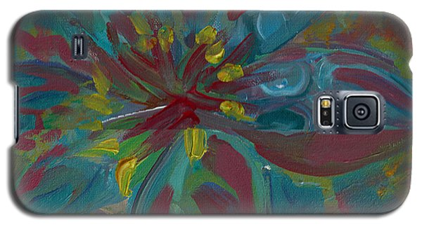 Galaxy S5 Case featuring the painting Wildflower 1 by John Keaton