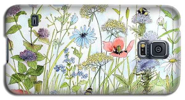 Wildflower And Bees Galaxy S5 Case by Laurie Rohner