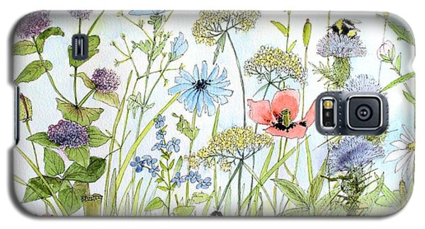 Wildflower And Bees Galaxy S5 Case