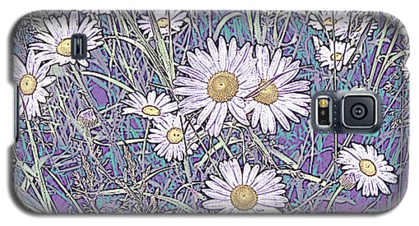 Wildflower Daisies In Field Of Purple And Teal Galaxy S5 Case