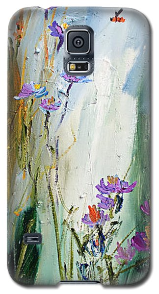 Wildflowers And Bees Oil Painting Galaxy S5 Case