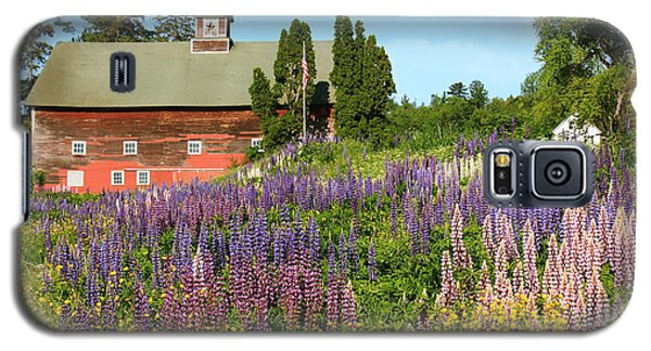 Galaxy S5 Case featuring the photograph Wildflowers And Red Barn by Roupen  Baker