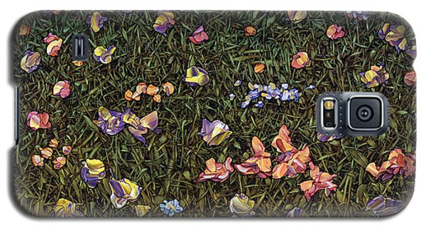 Galaxy S5 Case featuring the painting Wildflowers by James W Johnson