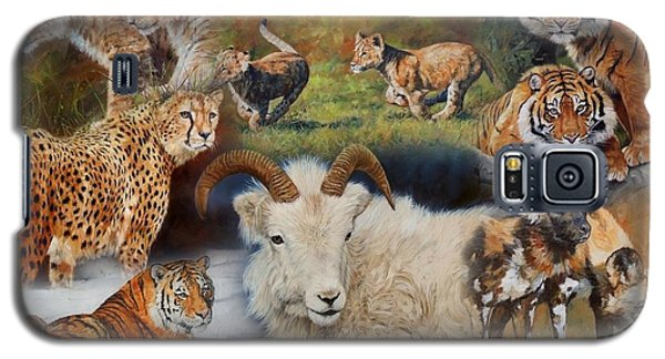 Wildlife Collage Galaxy S5 Case by David Stribbling