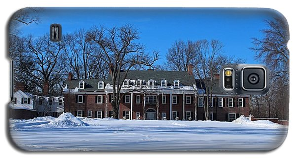 Wildwood Manor House In The Winter Galaxy S5 Case by Michiale Schneider