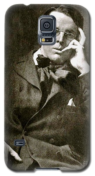 Galaxy S5 Case featuring the photograph William Butler Yeats by Pg Reproductions