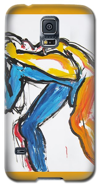Galaxy S5 Case featuring the painting William Flynn Block by Shungaboy X
