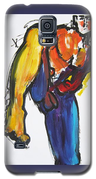 Galaxy S5 Case featuring the painting William Flynn Kick by Shungaboy X