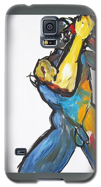 Galaxy S5 Case featuring the painting William Flynn Upper Cut by Shungaboy X