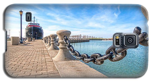 Galaxy S5 Case featuring the photograph William G. Mather At Harbor by Brent Durken