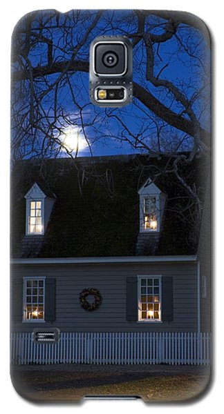 Williamsburg House In Moonlight Galaxy S5 Case