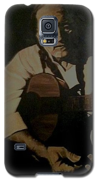 Galaxy S5 Case featuring the painting Willie Nelson by Ashley Price