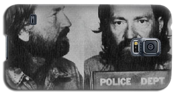 Willie Nelson Mug Shot Horizontal Black And White Galaxy S5 Case