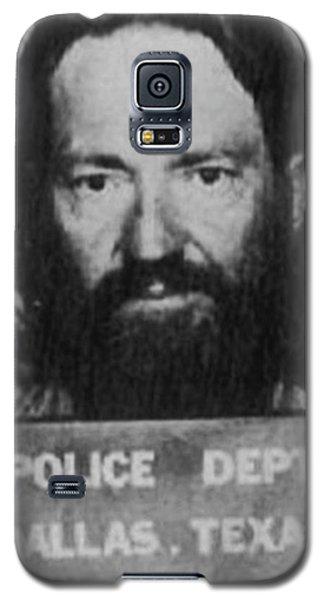 Willie Nelson Mug Shot Vertical Black And White Galaxy S5 Case