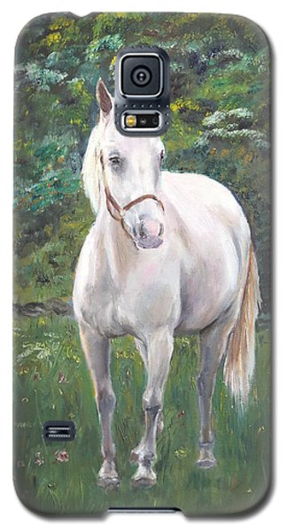Galaxy S5 Case featuring the painting Willow by Elizabeth Lock