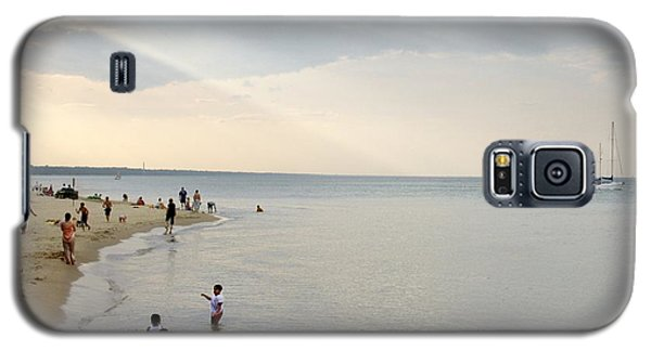 Wilmette Beach Labor Day 2009 Galaxy S5 Case by John Hansen