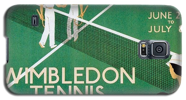 Wimbledon Tennis Southfield Station - London Underground - Retro Travel Poster - Vintage Poster Galaxy S5 Case