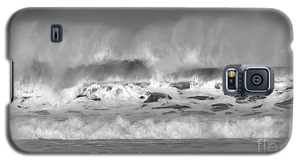 Galaxy S5 Case featuring the photograph Wind Blown Waves by Nicholas Burningham