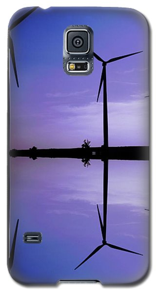 Wind Energy Turbines At Dusk Galaxy S5 Case