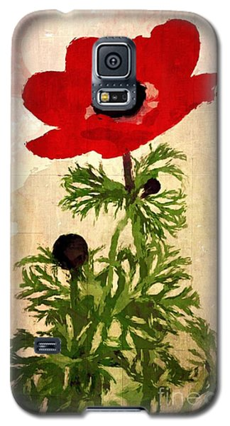 Galaxy S5 Case featuring the digital art Wind Flower by Alexis Rotella