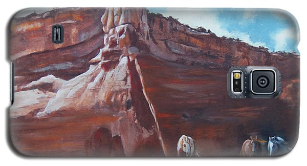 Galaxy S5 Case featuring the painting Wind Horse Canyon by Karen Kennedy Chatham