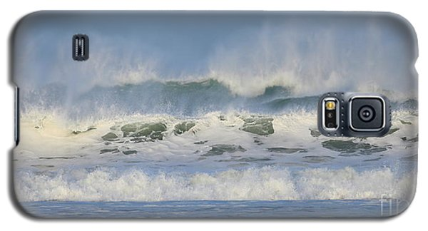 Galaxy S5 Case featuring the photograph Wind Swept Waves by Nicholas Burningham
