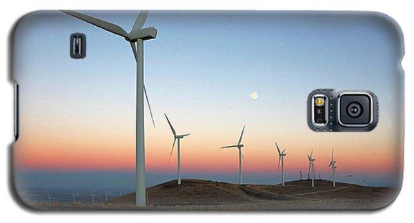 Wind Turbines At Moonrise Galaxy S5 Case