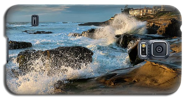 Galaxy S5 Case featuring the photograph Windansea Beach At High Tide by Eddie Yerkish