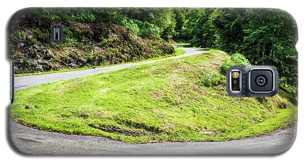 Galaxy S5 Case featuring the photograph Winding Road With Sharp Bend Going Up The Mountain by Semmick Photo