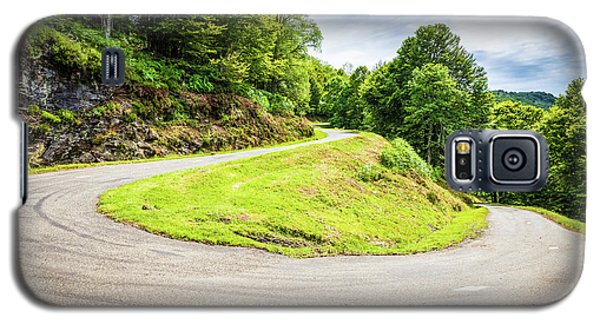 Galaxy S5 Case featuring the photograph Winding Road With Sharp Curve Going Up The Mountain by Semmick Photo
