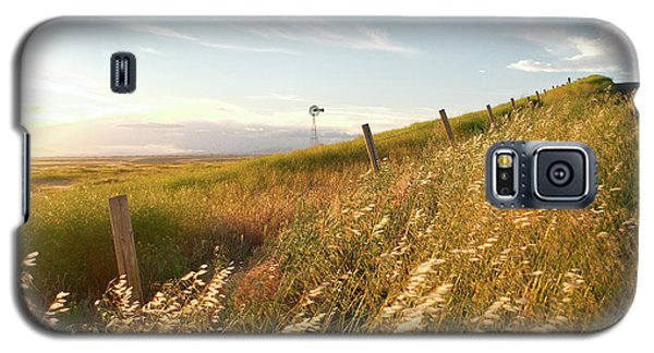 Windmill And The Fence Sundown Galaxy S5 Case