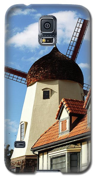 Windmill At Solvang, California Galaxy S5 Case