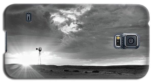 Windmill At Sunset Galaxy S5 Case