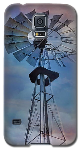 Galaxy S5 Case featuring the photograph Windmill At Sunset by Susan Candelario
